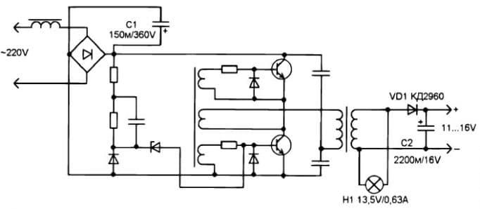 доработанная схема трансформатора