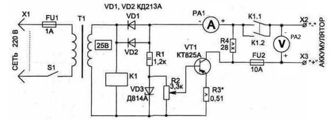 Схема КТ825