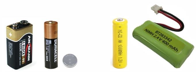 батарейки (3 шт.), аккумулятор