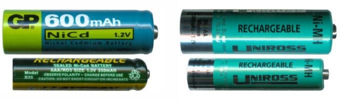 аккумуляторы формата АА и ААА