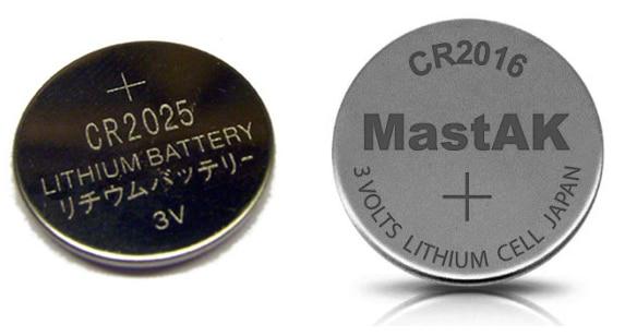 CR2025 и CR2016