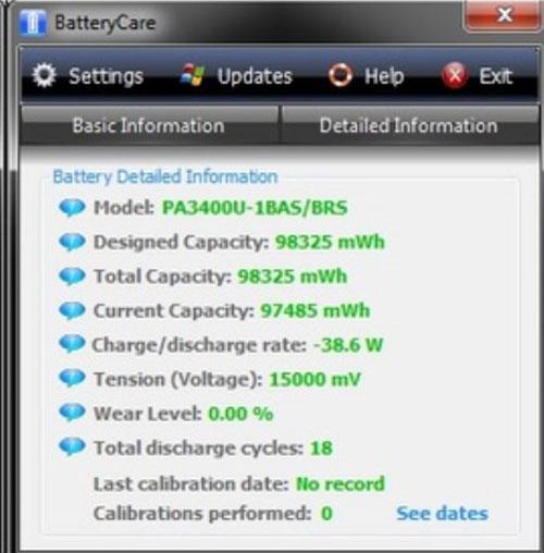 Утилита Battery Care