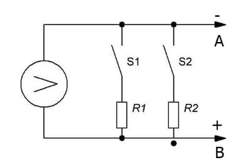 Электрическая схема нагрузочной вилки