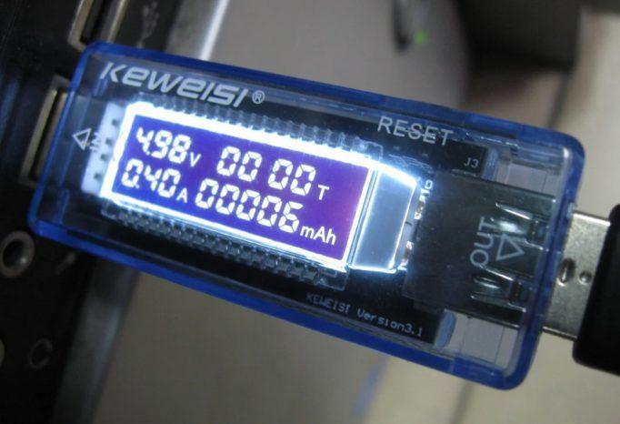 USB тестер поможет узнать емкость батареи