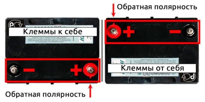 Что такое полярность аккумулятора автомобиля и как её определить