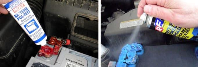 Почему окисляется плюсовая и минусовая клемма на аккумуляторе автомобиля
