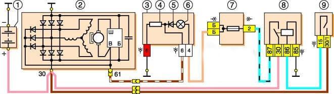 Электрическая схема зарядки Нива Шевроле