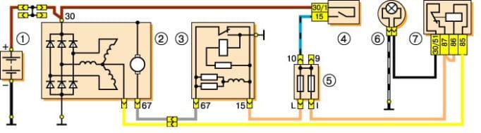 Электрическая схема Нивы