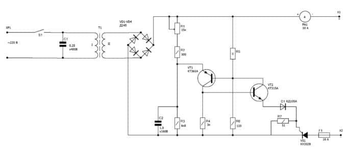 Схемы самодельного зарядного устройства с регулировкой тока и напряжения