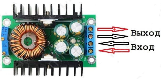 Схема включения импульсного преобразователя XL4016