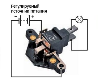 проверка реле-регулятора инжектор