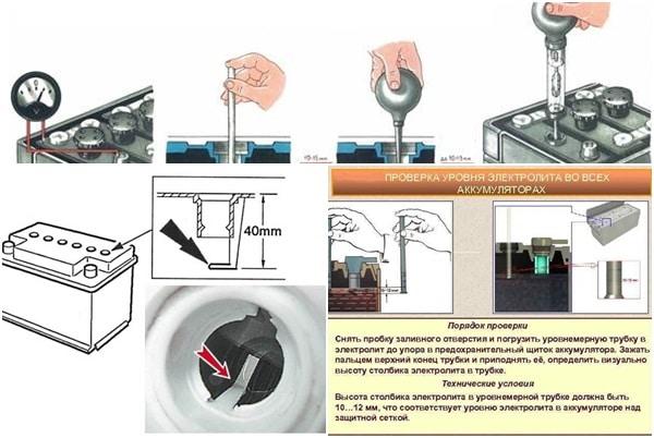 Как проверить уровень электролита в автомобильном аккумуляторе